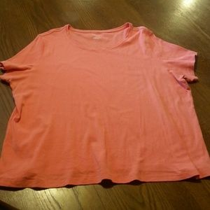 Coral tee plus size short sleeve